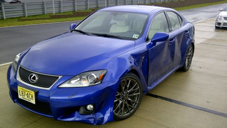 Lexus IS-F Crashed by Automotive Journalist