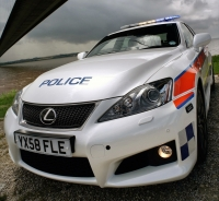 Lexus IS-F police car...