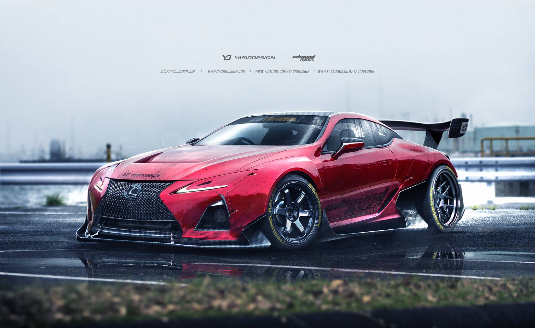 lexus lc 500 racecar rendered might just happen autoevolution. Black Bedroom Furniture Sets. Home Design Ideas