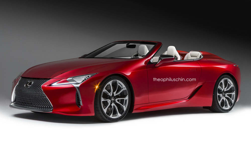 lexus lc 500 convertible rendering grabs attention we see. Black Bedroom Furniture Sets. Home Design Ideas