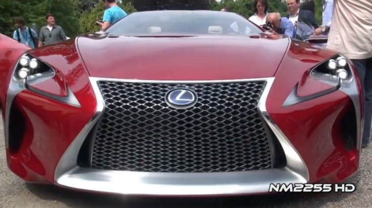 Lexus LF-LC Concept at Villa d'Este [Video]