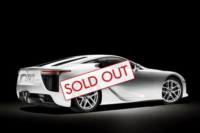 Lexus LFA Sold Out