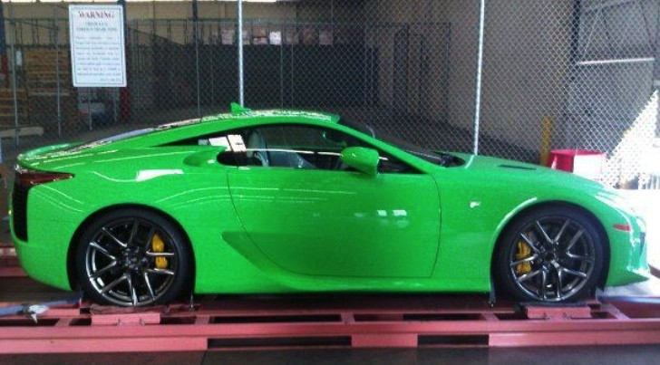 Lexus LFA Dressed in Psychedelic Green