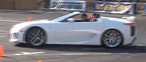 Lexus LFA Roadster at Drift Event in Japan [Video]