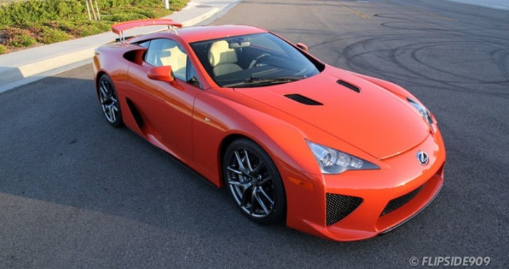 Lexus LFA Shines in Sunset Orange