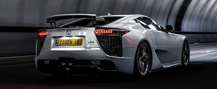 Lexus LFA Supercar Looks Like a Perfect Getaway Car in This Insane Gaming Video - autoevolution