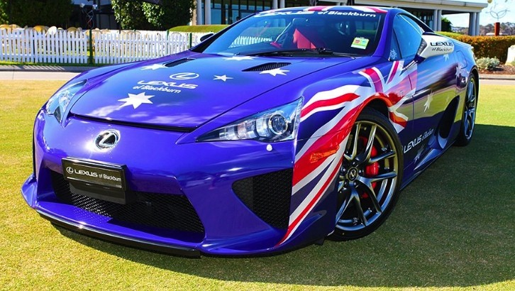Lexus LFA Wrapped in Australian Flag [Photo Gallery]