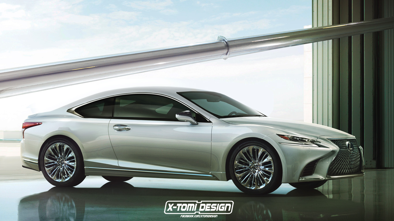 Lexus LS C Imagined As A BMW 8 Series Audi A9 Competitor