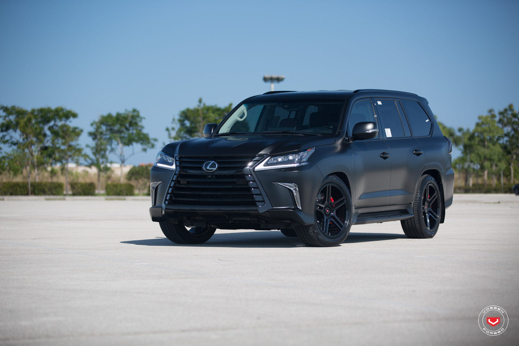 Lexus LX 570 Gets Murdered Out Look and Vossen Wheels ...