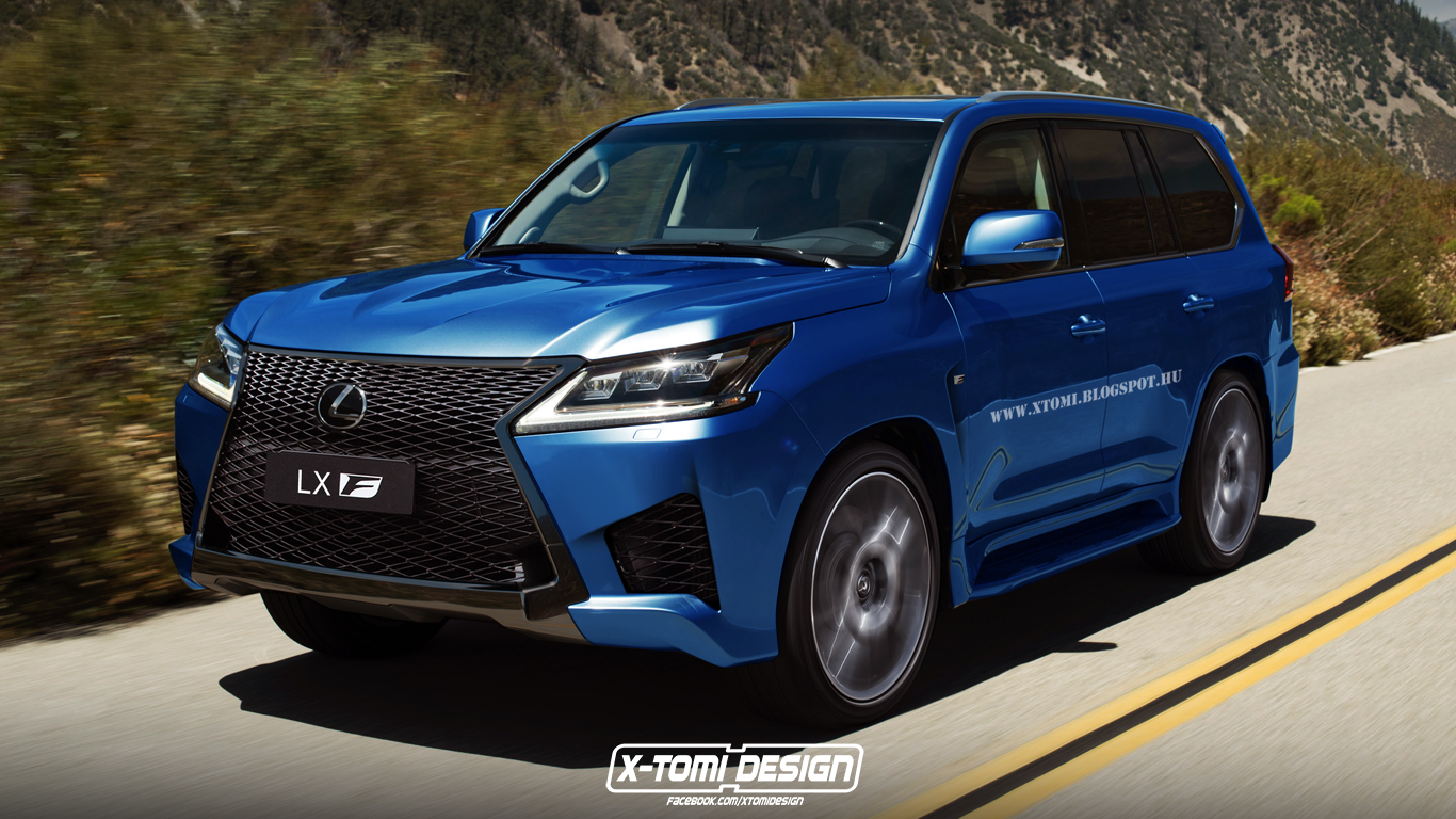 lexus lx receives the f sport makeover but only in the digital world autoevolution. Black Bedroom Furniture Sets. Home Design Ideas