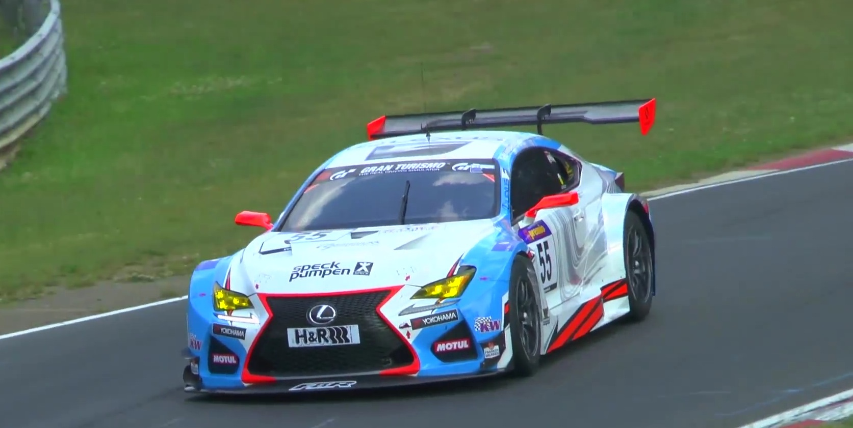 lexus rc f gt3 makes nurburgring debut in vln race sounds amazing