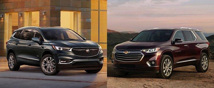 2018 gmc acadia vs 2017 buick enclave compare reviews autos post. Black Bedroom Furniture Sets. Home Design Ideas