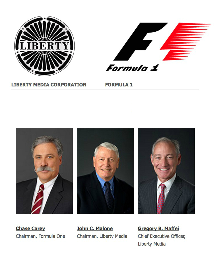 Image result for images of formula one and liberty media acquisition