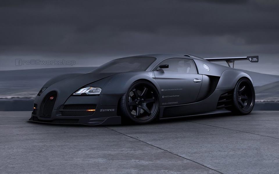 liberty walk bugatti veyron is not impossible autoevolution. Black Bedroom Furniture Sets. Home Design Ideas
