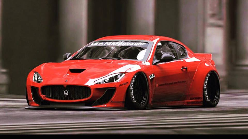 Liberty Walk Is Readying A Maserati Granturismo Wide Bodykit That Looks Insane Autoevolution