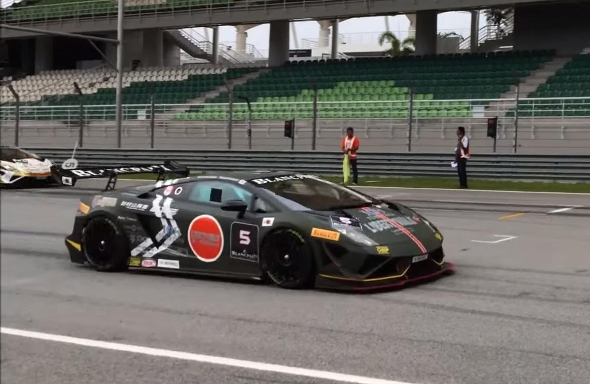 Liberty Walk Lamborghini Gallardo Super Trofeo Racecar Sounds Like A