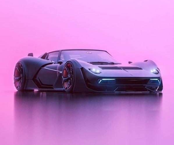 Liberty Walk Lamborghini Miura Meets Terzo Millennio In Electric
