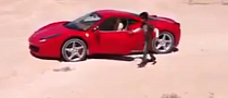 Libyan Boy Does Donuts in a Ferrari 458 on Sand [Video]