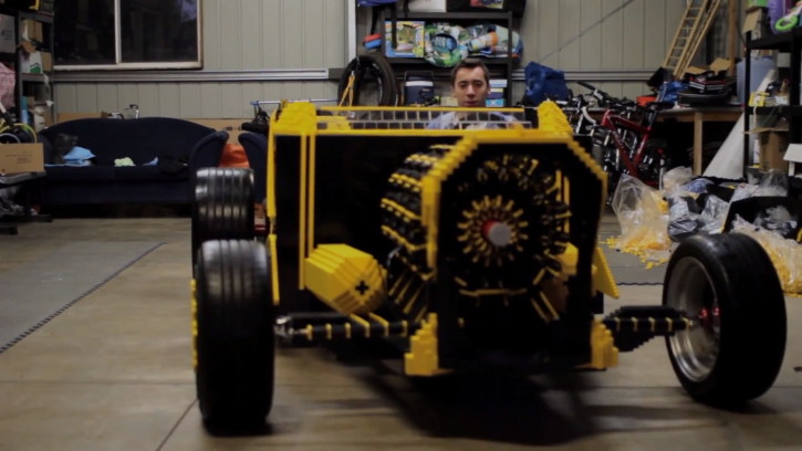 life size lego hot rod works on air - autoevolution
