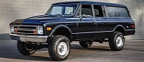 Lifted 1972 Chevy Suburban 4x4 Is Black Panther-Clean Outside, Disastrous Inside