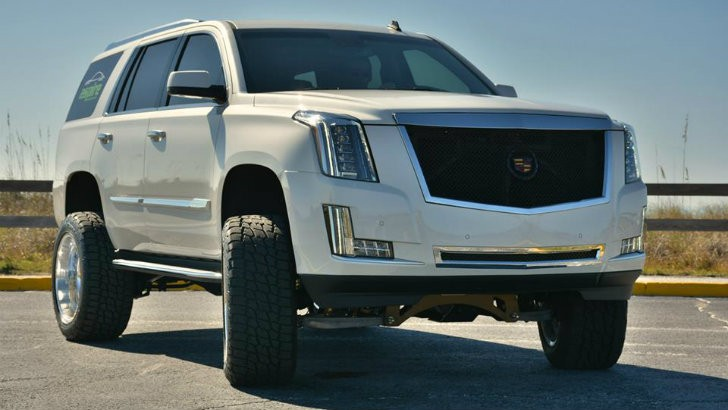 Lifted Cadillac Escalade Wears Inch American Force Nightmare Wheels Photo Gallery