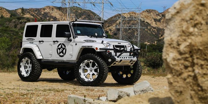 Lifted Jeep Wrangler On Forgiato Offroad Wheels [Video ...