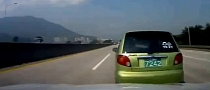 Light Impact Sends Matiz Tumbling Down Highway [Video]