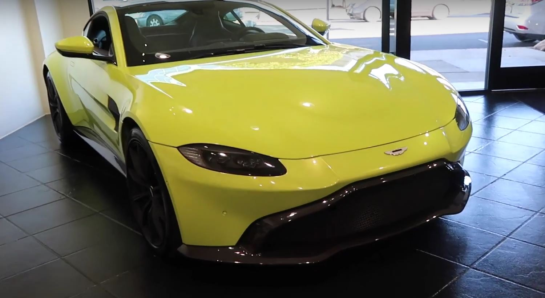 Lime Essence 2018 Aston Martin Vantage Gets Walkaround Revs Its