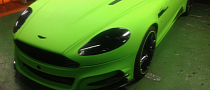 Lime Geen Wrap on Aston Martin DBS