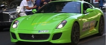 Lime Green Ferrari 599 GTO Gets Crazy in Paris [Video]