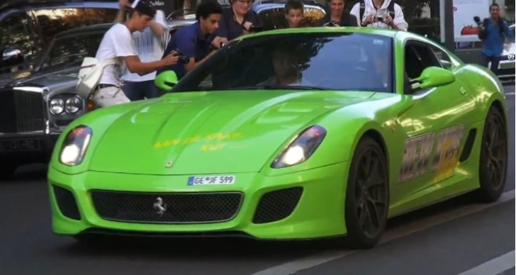 Lime Green Ferrari 4