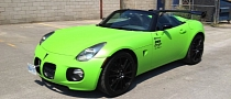 Lime Green Pontiac Solstice Wrap [Photo Gallery]