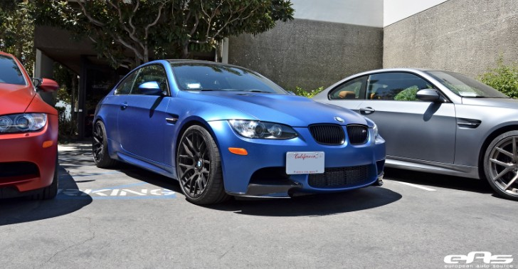 Limited Edition Frozen Blue BMW E92 M3 Goes to EAS for New Springs