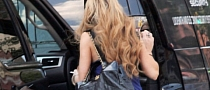 Lindsay Lohan Spotted Getting Inside a Cadillac Escalade