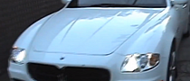 Lindsey Logan Spotted in White Maserati Quattroporte [Video]