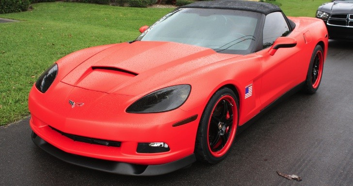 lingenfelter c6 corvette matte red wrap autoevolution. Black Bedroom Furniture Sets. Home Design Ideas