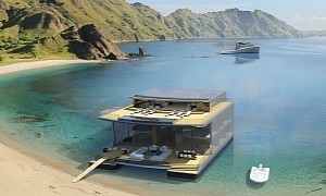 Link Superyacht Concept Boasts a Deployable Summer Home for Billionaires