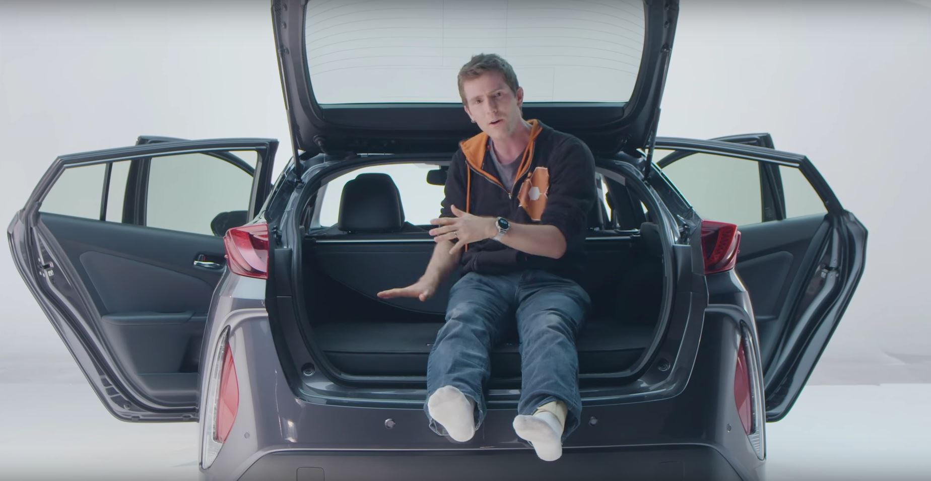 Linus Tech Tips Does Unboxing Of Prius Prime Mentions Carbon Trunk