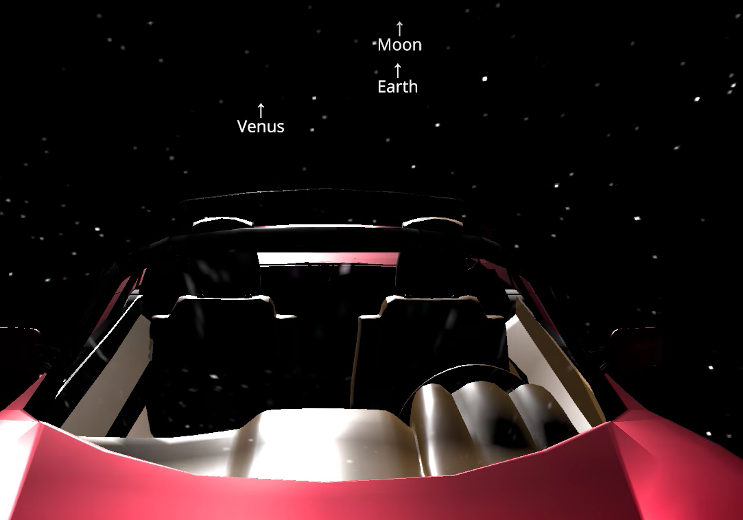 Gold Tesla Roadster >> Live Tracking Tesla Roadster in Space, Car Now 2.3 Million Miles Away from Earth - autoevolution