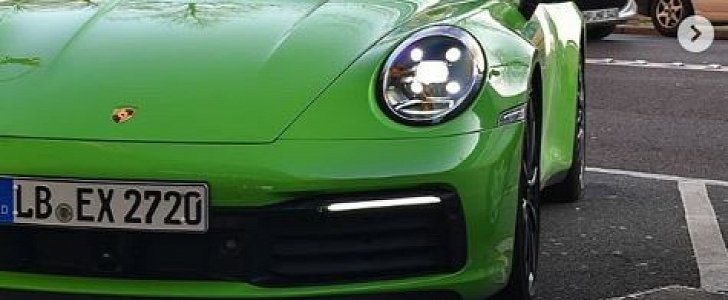 Lizard Green 2020 Porsche 911 Cabriolet Comes with Matching Interior Details