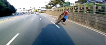 Lolrider Brakes Hard for No Reason, Crashes Silly [Video]