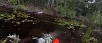 Lolrider Crashes Silly into Pond, Pinned under Bike [Video]