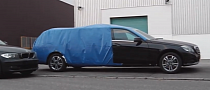 Extra Long Wheelbase E-Class Estate Spotted: Hearse or Binz Xtend? [Video]