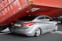 Low Rider: Container Crushes Hyundai Elantra Suspension