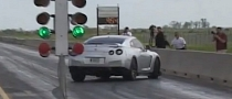 Lucky Nissan GT-R Driver Avoids Three Barrier Collisions [Video]