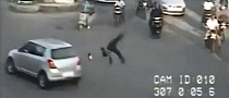 Lucky Scooter Rider Safe After Violent Head-On Crash [Video]