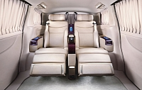 Inside the vehicle are Ottoman seats covered in rich Nappa leather