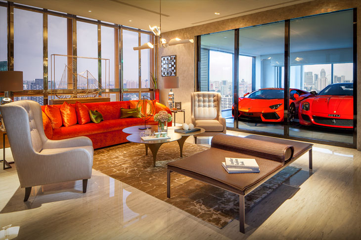 apartment inside. 7 Photos Luxury Skyscraper Allows Residents To Park Their Car Inside The