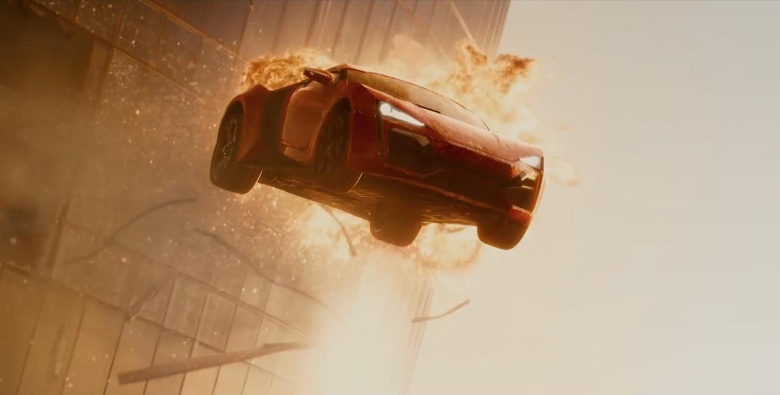 Lykan Hypersport Skyscraper Jump from Furious 7 Is