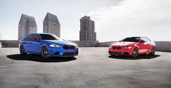 M Brothers Pose Together: BMW M3 and M5 Riding on HRE Wheels [Photo Gallery]